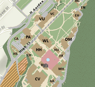smalls subsection of the campus map