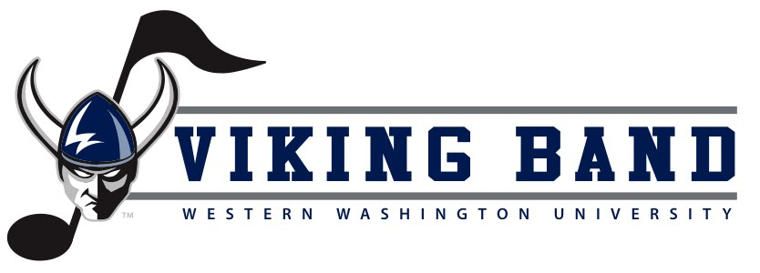 Viking Band: Western Washington University - logo with viking mascot