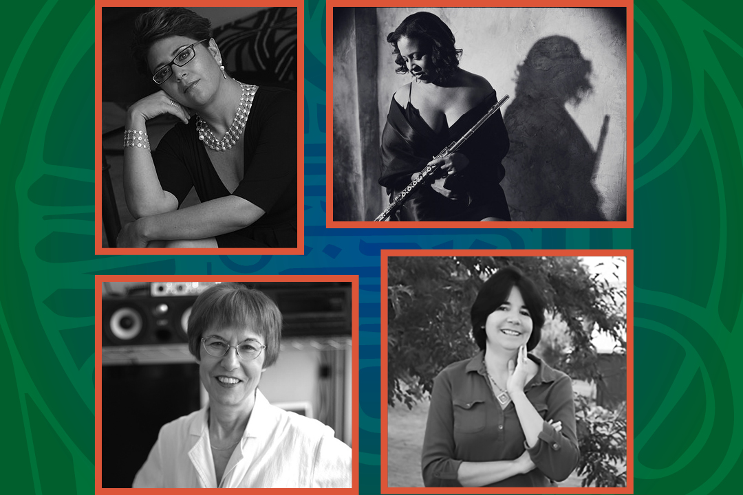 4 portrait collage of women composers