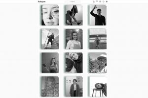 tiled images from Instagram, each showing a member of the class