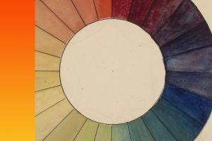 drawing of a color wheel